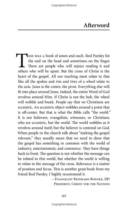 The Cross Book - Preview the afterword by Rienhard Bonnke